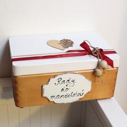 Dřevěná krabička RADY DO MANŽELSTVÍ