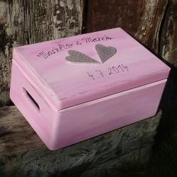 Svatební krabička na vzpomínky róza