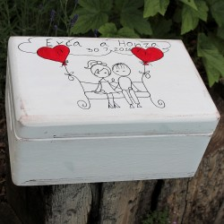 Dřevěná krabička ZAMILOVANÍ