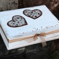 Dřevěná krabička L´AMOUR