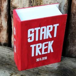 Svatební dřevěná krabička kniha START TREK