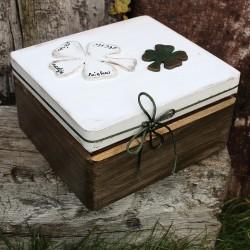 Dřevěná krabička ŠTĚSTÍČKO