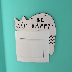 KOČKA na vypínač BE HAPPY