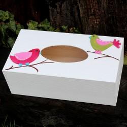 Krabička na kapesníky PTÁČCI