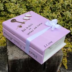 Svatební dřevěná kniha ZÁMEK LÁSKY Šípkové Růženky