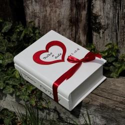 Svatební dřevěná krabička kniha LOVE STORY II.