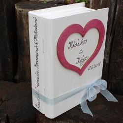 Svatební dřevěná krabička kniha LOVE STORY III.