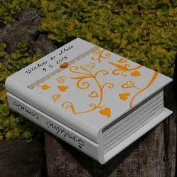 Svatební dřevěná krabička kniha ORIENT