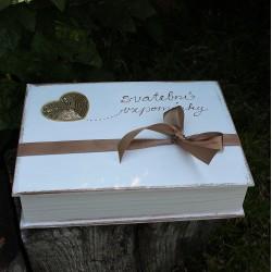 SVATEBNÍ dřevěná krabička ZLATKA