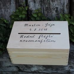MAXI pokladnička svatební dřevěná