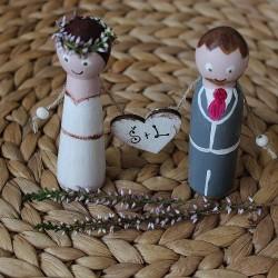 Svatební figurky ŠTĚPÁNKA a LEOŠ