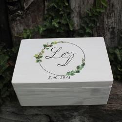 Svatební krabička LÍSTEČKOVÁ DĚKUJEME