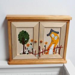 MAXI dřevěná skříňka na klíče DOMEČEK