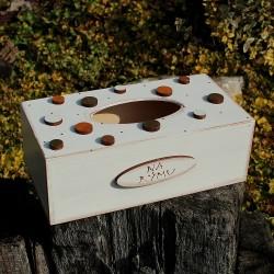 Dřevěná krabička na kapesníky PLANETKY
