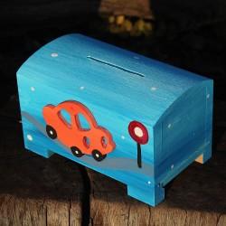 Dřevěná pokladnička AUTO
