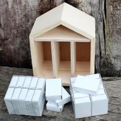 Dřevěný adventní kalendář domeček k dotvoření