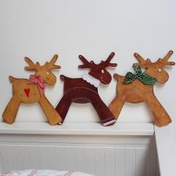 Zimní dřevěná dekorace sobi