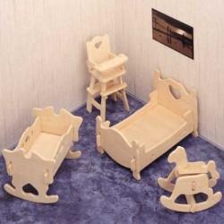 Skládací nábytek pro panenky DĚTSKÝ pokoj