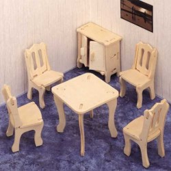 Skládací nábytek pro panenky JÍDELNA