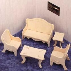 Skládací nábytek pro panenky OBÝVACÍ POKOJ