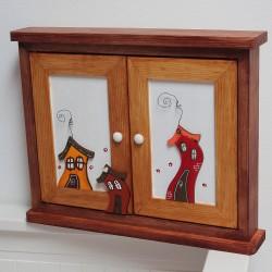 MAXI skříňka na klíče tančící DOMEČKY