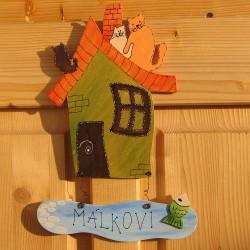 Dřevěná cedulka na dveře RYBÁŘ