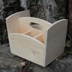 Dřevěný stojánek na příbory k vlastnímu tvoření