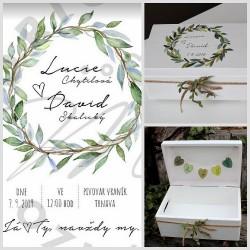 Svatební truhlička na přání botanicus