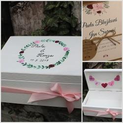 Svatební truhlička na přání růže