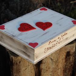 SVATEBNÍ krabička na peníze srdce