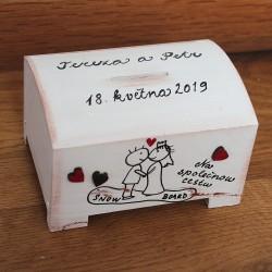 Svatební pokladnička pro snowborďáky