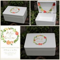 Svatební krabička na přání a peníze VĚNEČEK