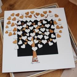 Srdce z překližky na svatební strom