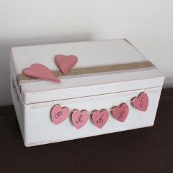 Dřevěná krabička na SVATEBNÍ PŘÁNÍ magnolie