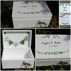 Svatební krabička na peněžité dary MYRTA