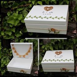 Svatební krabička Z LESA na peněžité dary