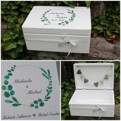SVATEBNÍ krabička na penežité dary eukalyptus