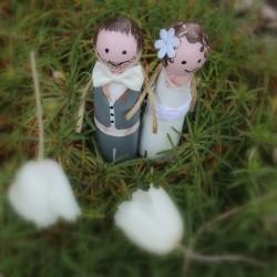 Svatební figurky LÁSKA v mechu