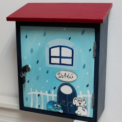 Poštovní schránka DOMEČEK azurový déšť