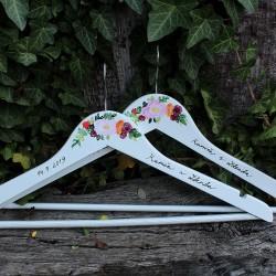 Svatební ramínka BURGUNDY