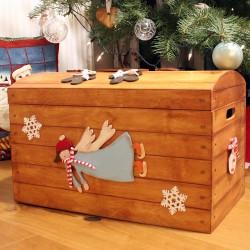 Dřevěná ÓBR truhla na andělské poklady