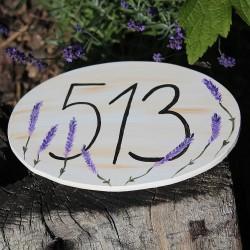Dřevěné číslo popisné PROVENCE