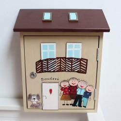 Dřevěná poštovní schránka na míru - DŮM s balkónem