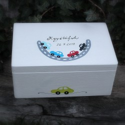 KRABICE na vzpomínky auta - dárek k narození miminka