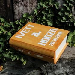 Svatební dřevěná krabička kniha NA ZAKÁZKU