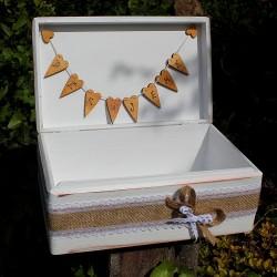 SVATEBNÍ dřevěná krabička na peníze - Láska ve větvích