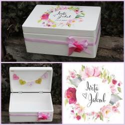 Dřevěná SVATEBNÍ krabička na přání a dary emoce
