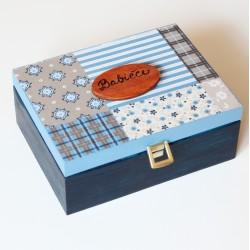 Dřevěná krabička na čaj - 6přihrádek