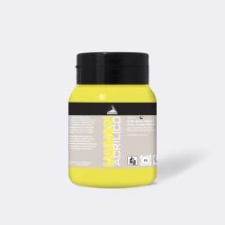 Akrylová barva Maimeri Acrilico 500 ml - žlutá citrónová 112