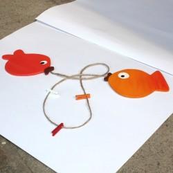 Šňůra na fotky a obrázky ZLATÉ rybky